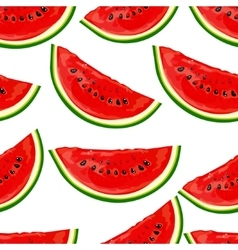 Seamless pattern watermelons vector