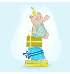 Baby Bear Birthday vector image vector image