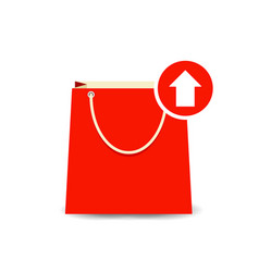 Bag buy output paper shopping icon vector