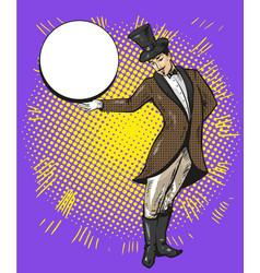 circus magician or casino croupier character vector image vector image