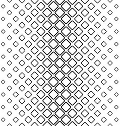 Monochrome abstract rounded square pattern vector image vector image