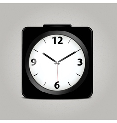 Square mechanical clock vector image