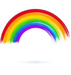 Acrylic painted rainbow vector image