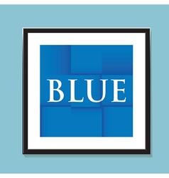 blue paper background vector image vector image