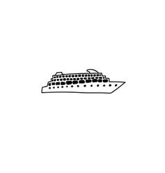 boat cartoon icon vector image vector image