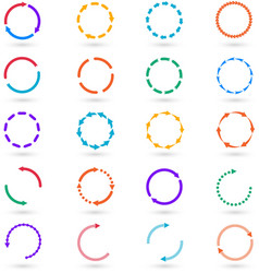Circle arrows infographic elements set vector image