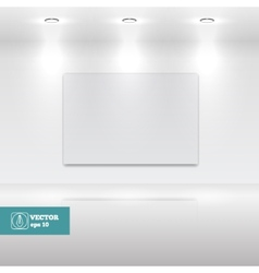 Empty White frame in art gallery vector image vector image