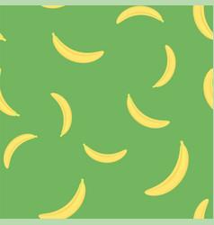 fresh yellow bananes seamless pattern vector image