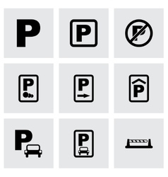 parking icon set vector image vector image