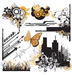 urban design elements vector image vector image