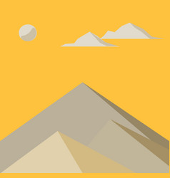 yellow mountains in the fog vector image