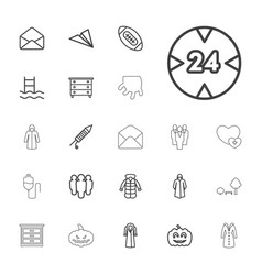 22 linear icons vector