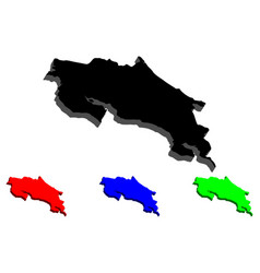 3d map of costa rica vector image