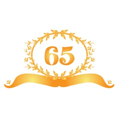 65th anniversary banner vector image