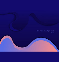abstract blue and pink wave shape background vector image