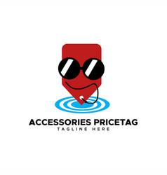 accessories price tag logo vector image