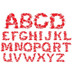 Alphabet - blots letters vector image