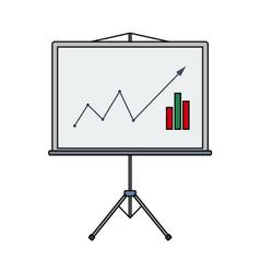 Analytics stand icon vector