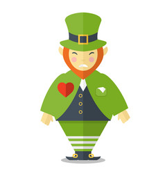 angry leprechaun cartoon vector image