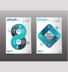 annual report 20172018future business template vector image