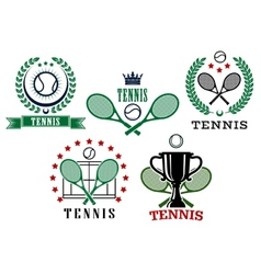 Assorted tennis tournament symbols vector