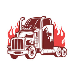 b logo with truck vector image