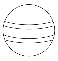 Ball with stripes icon outline style vector