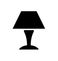 bedside light bulb icon vector image