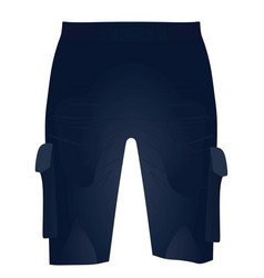 Blue shorts front view vector