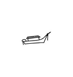 boat cartoon icon vector image