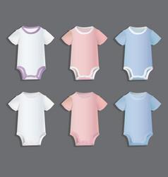 Bodysuits for children patterns vector
