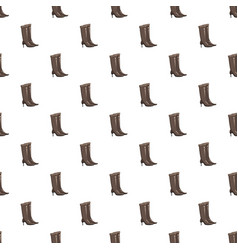 brown high heel fashion boot pattern vector image