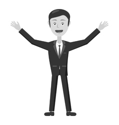 Businessman waving his hands icon vector image