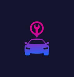 Car service repair icon logo vector