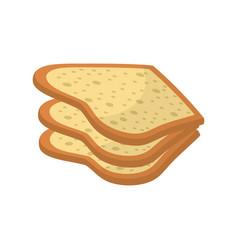 Delicious fresh bakery slice bread vector