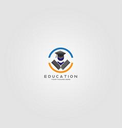 Education logo template logo for school vector