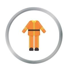 Firefighter uniform icon cartoon Single vector image