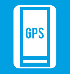 Global positioning system icon white vector