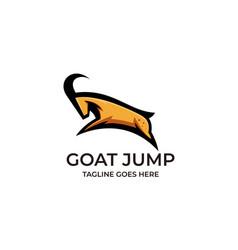 Goat jump design concept template vector