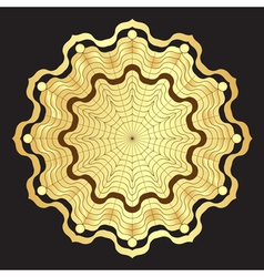 Gold round elegance frame vector