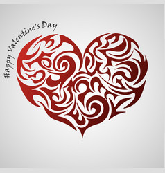 Heart red abstract tribal tattoo decorative vector