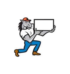 Horse Kneeling Presenting Cartoon vector