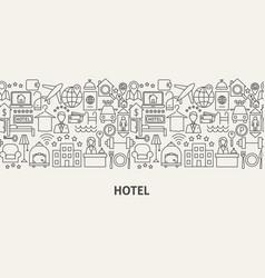 Hotel banner concept vector