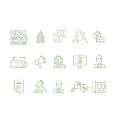 house for sale icons realtor rent or selling vector image