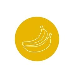 Icon Banana in the Contours vector