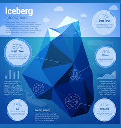 iseberg low-polygonal infographics vector image