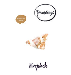 jewish dumpling kreplach watercolor vector image