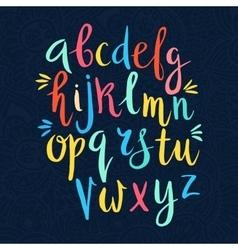 Latin alphabet drawn by hand vector