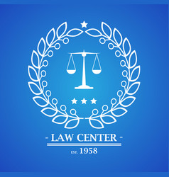 law firm office center logo desig vector image