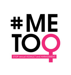 Me too social movement hashtag against sexual vector